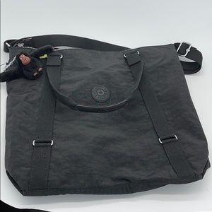 Kipling Cubic Large Black Nylon Crossbody Bag